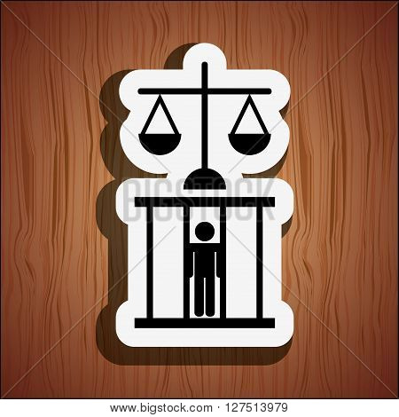 justice flat icon design, vector illustration eps10 graphic