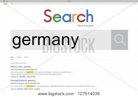 Global Search Website Browser Germany Concept