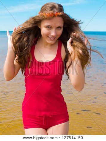 Model under Sun Girl's Joy