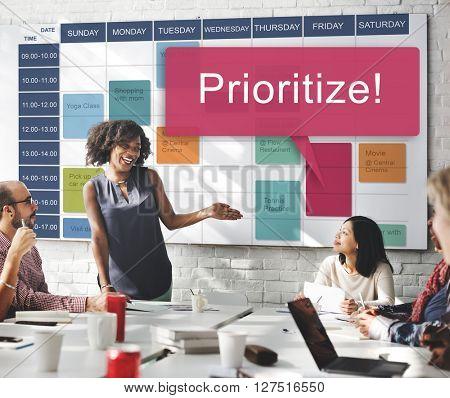 Prioritize Effectivity Focus Order Rank Tasks Urgent Concept