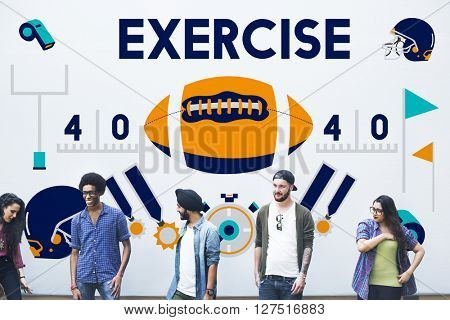League Sport Fitness Exercise Training Teamwork Winner Concept