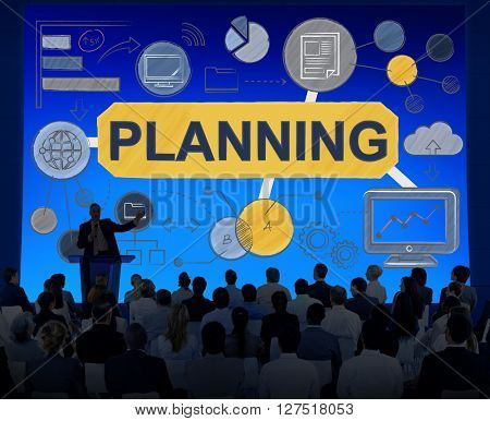 Planning Strategy Global Business Data Concept