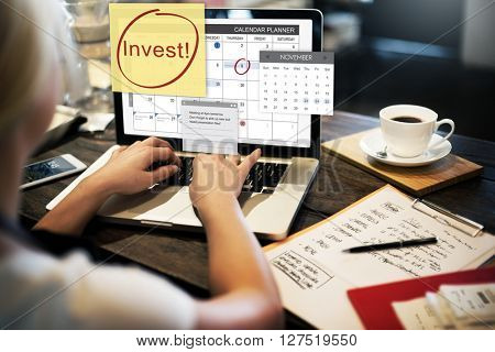 Invest Assets Finance Budgeting Schedule To Do Concept
