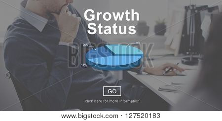 Growth Status Technology Online Website Concept