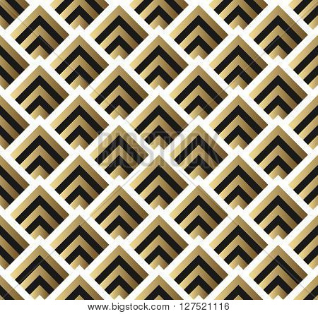 Abstract Seamless Pattern. Vector seamless pattern. Seamless Pattern with Triangles. Gold black and white triangle Pattern . Gold black and white seamless triangle pattern. Seamless Pattern .
