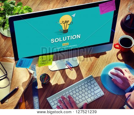 Solution Strategy Light Bulb Graphics Concept