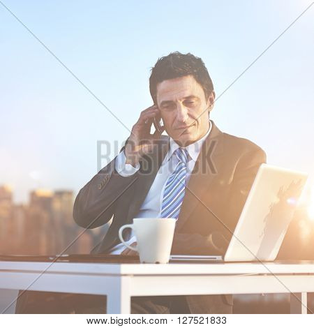 Business Businessman Telecommunication Wireless Concept