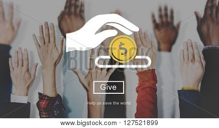 Save Give Charity Donation Concept