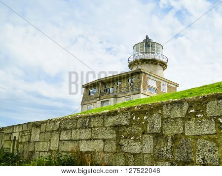 The Belle Tout lighthouse on top of Beachy Head Eastbourne East Sussex England
