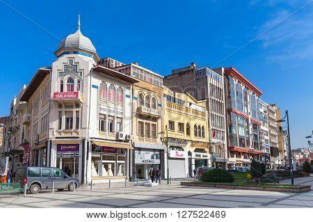 Izmir City Street View, Facades Of Living Houses