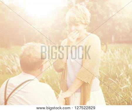 Couple Married Sweet Romantic Concept