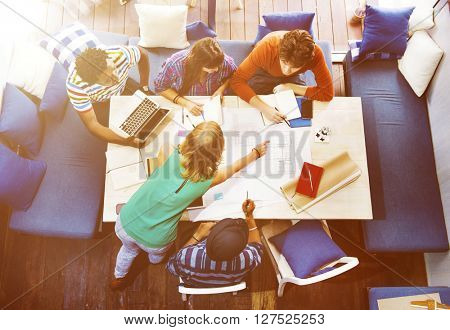 Diverse Architect People Group Working Concept