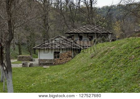 Old traditional houses in Ether, Gabrovo, Bulgaria