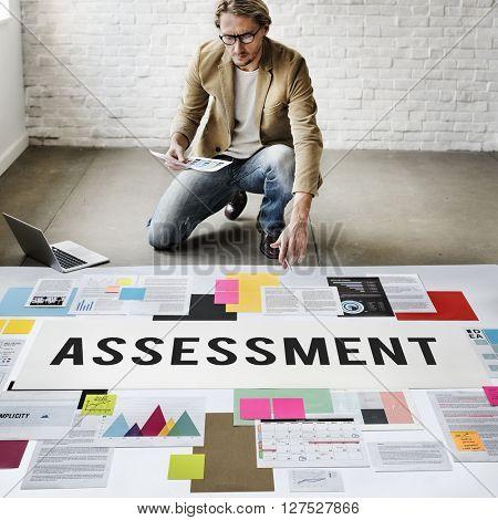 Assessment Audit Analysis Measure Examination Concept