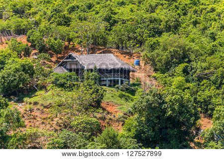 A lonely house in the Lokobe Strict Reserve in Nosy Be island Madagascar