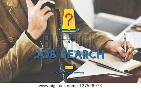 Job Search Career Plan Occupation Concept