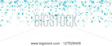 White abstract background with blue trigons. Vector illustration.