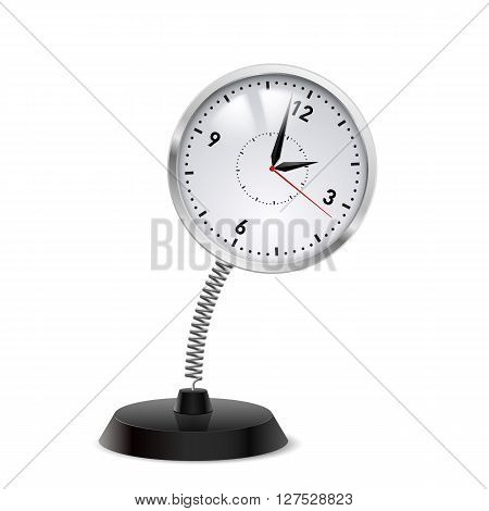 Table souvenir in form of clock on spring
