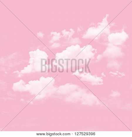 The abstract cloudy and pink sky background