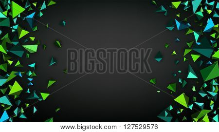 Gray abstract background with 3d figures. Vector illustration.