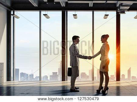 Business partners handshake