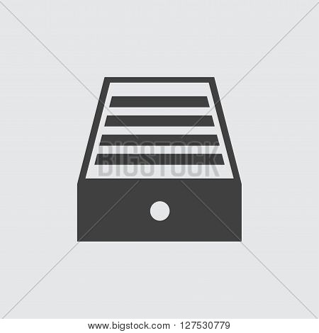 Drawer icon illustration isolated vector sign symbol