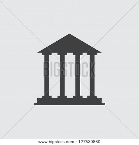 Court building icon illustration isolated vector sign symbol