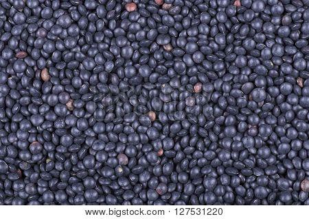 texture background of black lentil of a grade Beluga