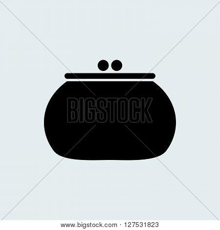 Money purse icon illustration isolated vector sign symbol