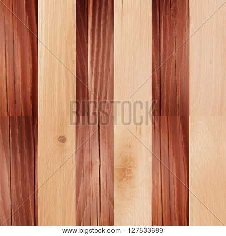 Wooden background checkerboard pattern. Wood planel background