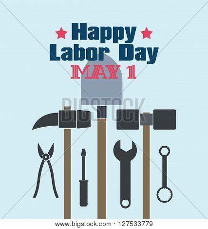 Labor Day theme illustration design flat style.