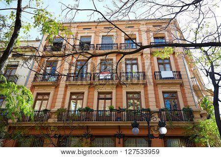 Valencia Downtown near Ayuntamiento square at Spain
