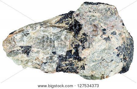 Green Nepheline Rock With Black Ilmenite