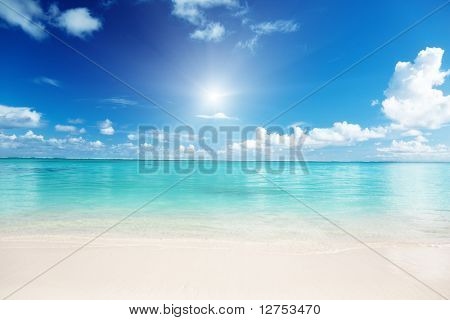 sand and Caribbean sea