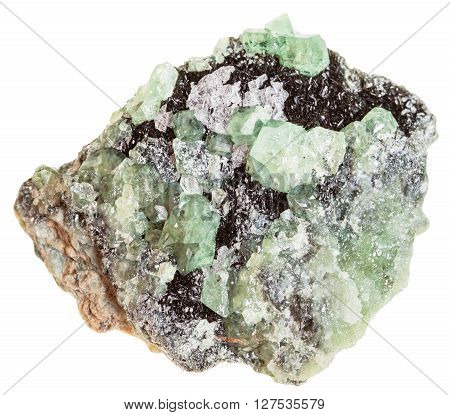 Druse Of Demantoid Crystals (green Garnet)