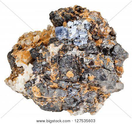 Galena And Sphalerite Minerals On Dolomite Rock