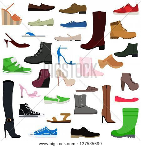 Women shoes isolated collection vector