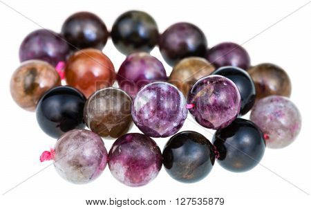 String Of Beads From Natural Tourmaline Gemstones