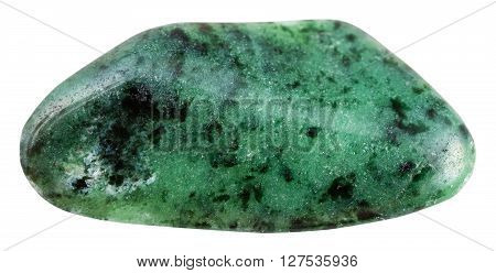 Tumbled Green Zoisite (saualpite) Gemstone