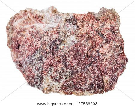 Piece Of Pink Dolomite Rock Isolated On White