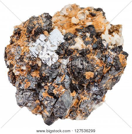 Galena And Sphalerite On Dolomite Rock Isolated