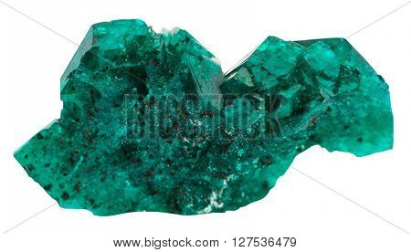 Emerald-green Crystals Of Dioptase Gemstone