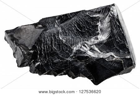 Raw Shungite Gemstone Isolated On White