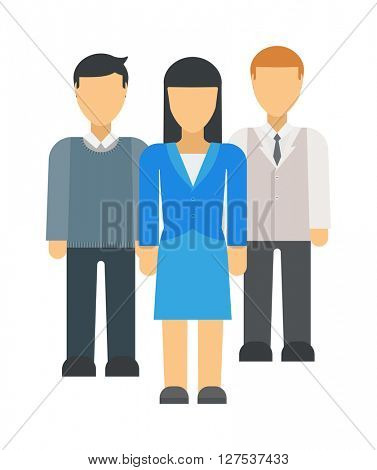 Business people team success celebration work concept professional colleagues character vector.