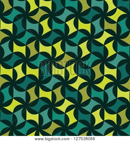 Vector modern seamless colorful geometry floral pattern color abstract geometric background pillow multicolored print retro texture hipster fashion design