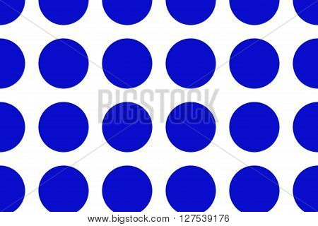 Illustration of a white background with large blue dots