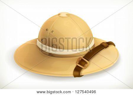 Pith helmet, vector icon