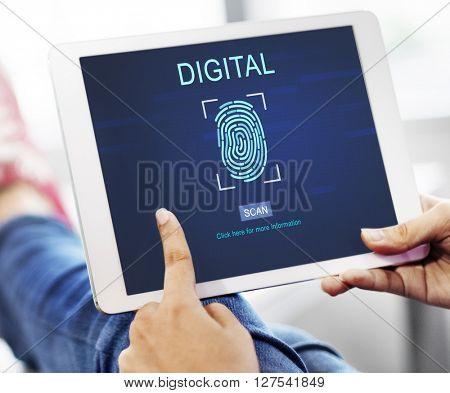 Technology Security Fingerprint Password Concept