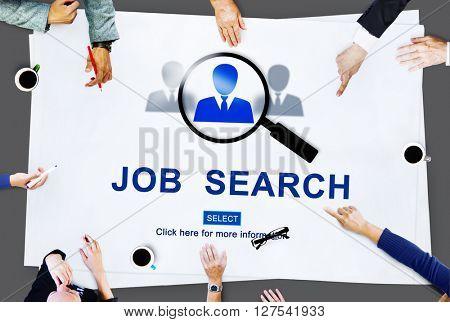 Job Search Hiring Website Word Concept