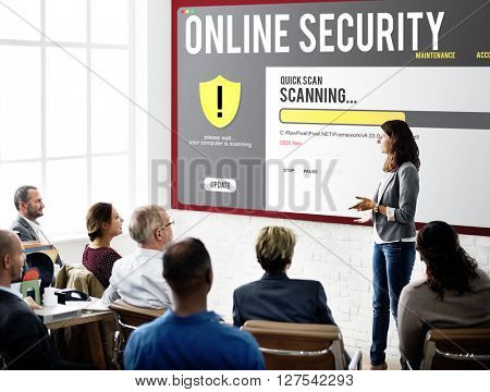 Online Security Protection Strategy Concept